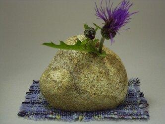 石輪挿し 天然石の花器 K-138の画像