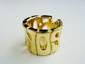Name ring 真鍮 大 (オーダー)の画像