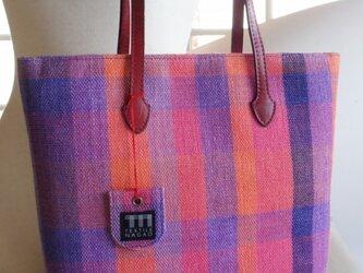 LINEN手織りトートバッグの画像
