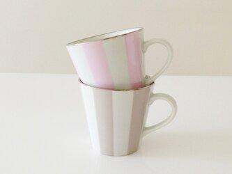 ストライプ の ペアマグカップの画像