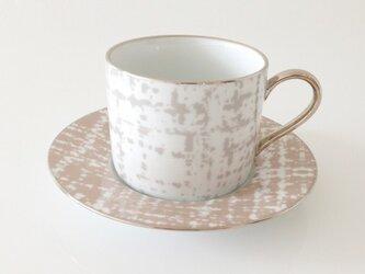 ツイードのカップ&ソーサーの画像