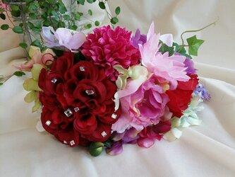 色とりどりのお花たち カチューシャの画像
