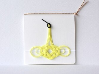 水引のついたメッセージカード「ツル」(レモン)の画像