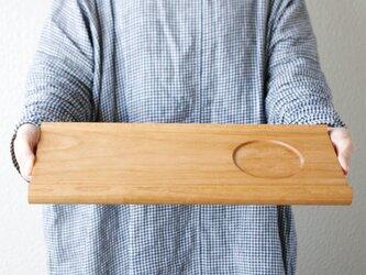 【木製トレー】カフェトレ— senro(L)◎プレート◎北欧◎シンプル◎ナチュラル◎アウトドアの画像
