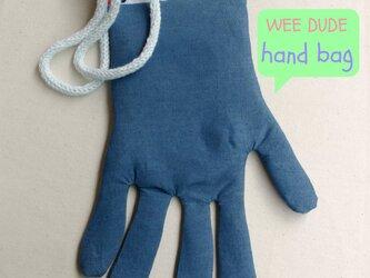 hand bag (blue)の画像