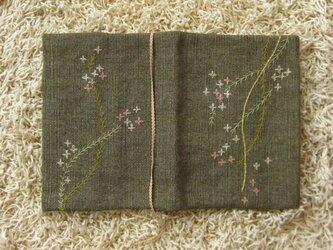 手刺繍・ブックカバー(花柳)の画像