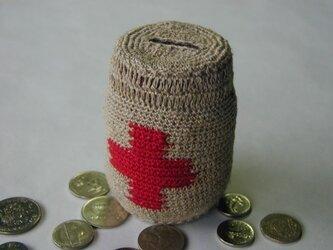 赤十字貯金箱(piggy・bank)の画像