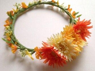 kids☆ワンポイントガーベラのおめかし花冠の画像