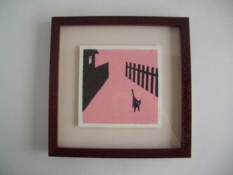 下町の猫の画像