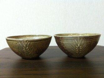 麦文灰釉小鉢の画像