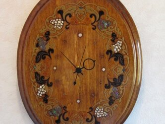 葡萄蒔絵 壁掛け時計の画像