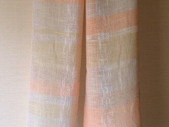 手織り・綿麻ストールの画像