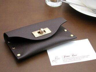 クラッチ・カードケース(名刺入れ)  T式プリズムチョコの画像