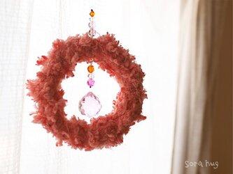 サンキャッチャー「糸の輪」01 ピンクの画像