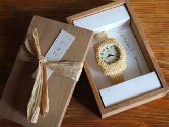 kurumi時計(大):Msize~草木染め「きはだ」の画像