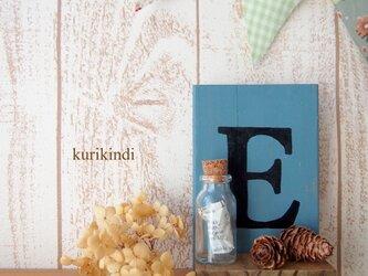 アルファベットのオブジェ Eの画像