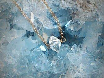 ハーキマーダイヤモンドと14KGFのネックレスの画像