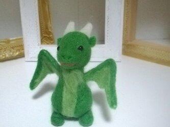 羊毛♪グリーンミニドラゴンの画像