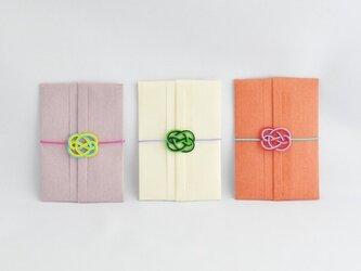メッセージカードつき ポチ袋 15【色違い3枚セット】の画像