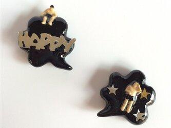 happy people pierced earrings#01の画像