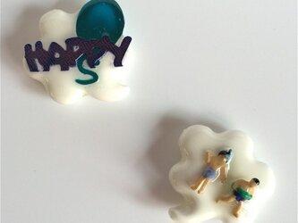happy people pierced earrings#02の画像