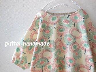 小春ママ様オーダー品☆バラニンのフラワープリント ビッグシャツ の画像