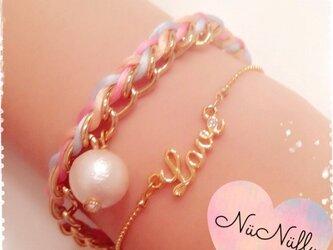 ☆new☆LOVEブレスレット〈ピンク〉の画像