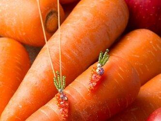 『野菜モチーフのアクセサリー/ピアス』 carotteの画像