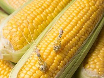『野菜モチーフのアクセサリー/ピアス』 maïsの画像