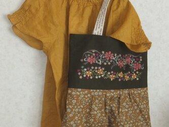 SOLD  お花ラインダンスししゅうスカートバッグの画像
