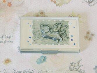 名刺ケース(天使猫)の画像