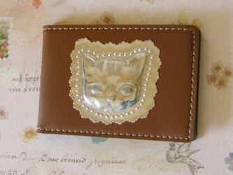 カードホルダー 猫(ブラウン)の画像