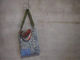 裂き織り/greenナmode 2wayバッグ (+orimi)の画像