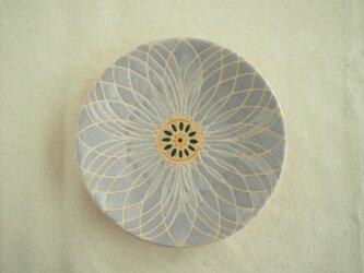 小皿(花)灰色の画像
