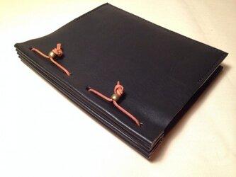 ブックカバー*黒の画像