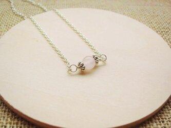 ■uno(ひとつぶ)ネックレス 【ローズクォーツ】の画像