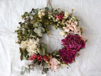 芍薬 紫陽花 green wreathの画像