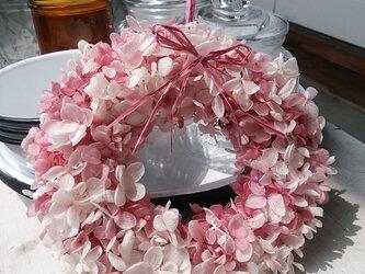 紫陽花リース  ピンクの画像