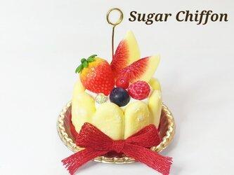 シャルロットケーキのメモスタンドの画像