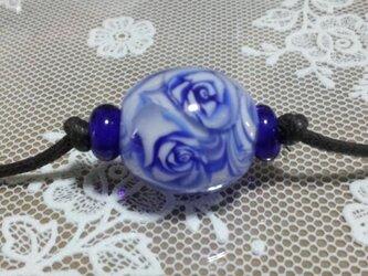 青い薔薇1(ネックレスお仕立て済み)の画像