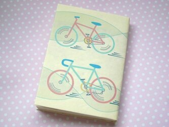 自転車模様の文庫本カバー(その2)の画像