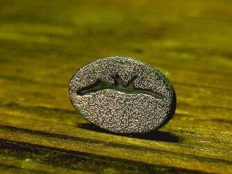 コーヒー豆のピアス(純銀製)の画像