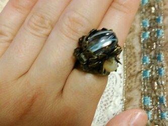 【一点物】ヴィンテージ イタリアンパーツの指輪の画像