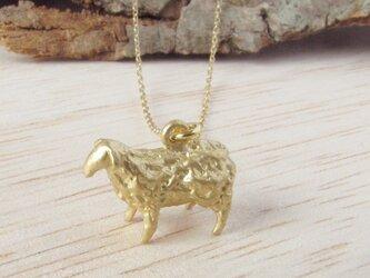 羊ネックレス(金)の画像