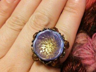 【一点物】フランス製ヴィンテージボタンの指輪の画像