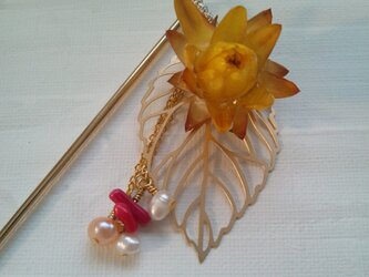 お花の髪かざり 花楽 yamabukiの画像