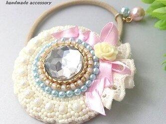 フリルサークル プリンセス ライトブルー×ピンクの画像