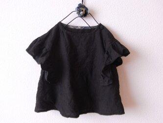 LINEN フリルチュニック *ブラック* size 80の画像