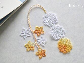 花しおり(黄色+白)の画像