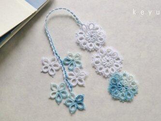 花しおり(水色+白)の画像